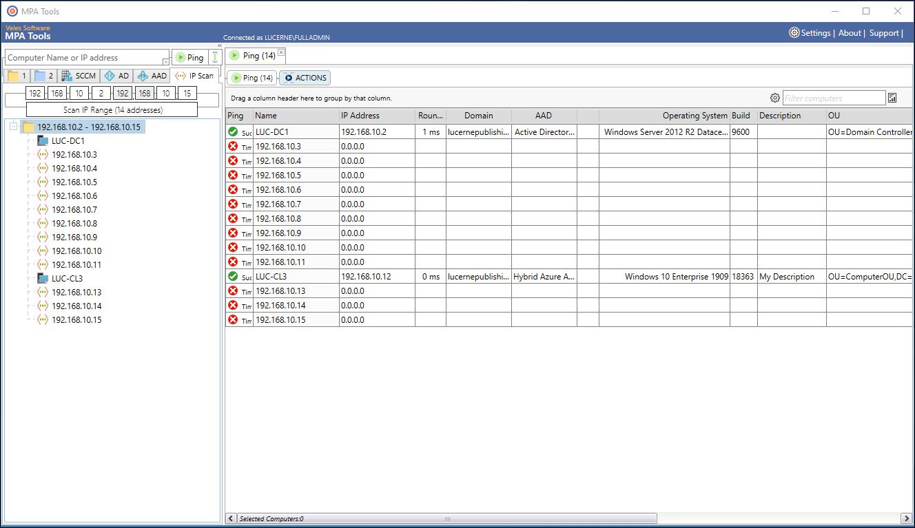 Scan IP range